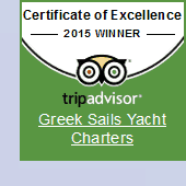 Greek Sails Trip Advisor Award for Excellence in 2015