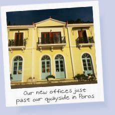 The new Greek Sails offices in Poros