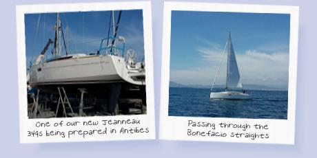 New yacht in Antibes boatyard and en route to Poros