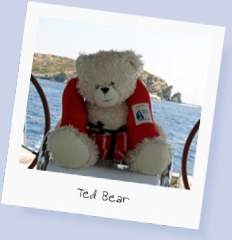 Ted Bear; who contributed photographs of 'his' sailing holiday in 2012
