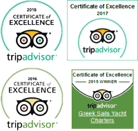 TripAdvisor awards for Excellence, 2015, 2016, 2017 & 2018