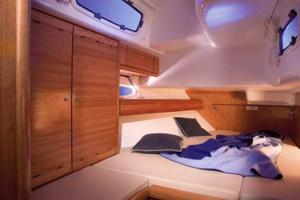 The rear starboard cabin of the Bavaria 50 Cruiser sailing yacht provides space and light. Image courtesey of Bavaria Yachtbau GmbH