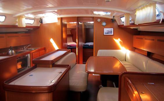The Cyclades 50.5 main saloon. Image courtesey & with permission of Beneteau S.A.