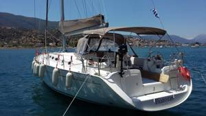 A Greek Sails Cyclades 50.5 moored at our Poros base