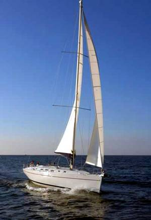 A Cyclades 50.5 underway. Image courtesey & with permission of Beneteau S.A.