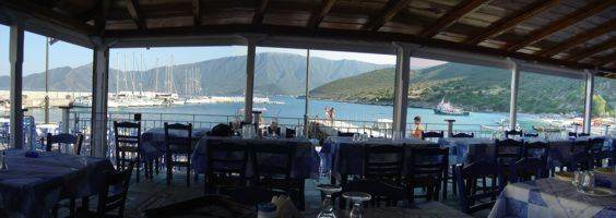Tavernas often surround the harbours and you can eat out overlooking your and other sailing yachts as here in Leonidhion Plaka on the Peloponnese east coast