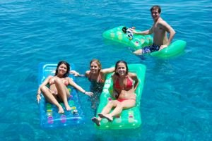 Relaxing in the crystal clear waters surrounding Greece after a days flotilla sailing