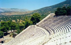 The stunning theatre at Epidavros (Epidauros) which is claimed to have near perfect acoustics