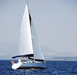 A Greek Sails Sun Odyssey 29.2 sailing yacht making way