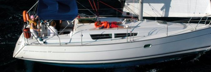 Jeanneau Sun Odyssey 32i sailing yacht available from Greek Sails for flotilla & bareboat charter from Poros, Greece