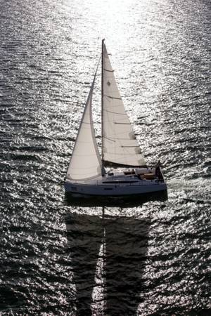 A Jeanneau Sun Odyssey 349 sailing yacht available from Greek Sails in Poros, Greece