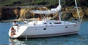 A Sun Odyssey 36.2 sailing yacht available for flotilla sailing holidays and bareboat charter from Greek Sails in Poros, Greece. Image courtesey & with permission of Chantiers Jeanneau S.A.