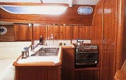 The Jeanneau Sun Odyssey 36.2 galley. Image courtesey & with permission of Chantiers Jeanneau S.A.