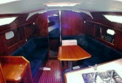 The Jeanneau Sun Odyssey 36.2 main cabin. Image courtesey & with permission of Chantiers Jeanneau S.A.