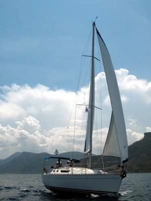 A Greek Sails Sun Odyssey 36.2 sailing yacht available for flotilla sailing holidays and bareboat charter from Greek Sails in Poros, Greece.
