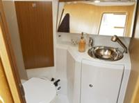 The toilet/wc (heads) of the Jeanneau Sun Odyssey 36i sailing yacht. Image courtesey & with permission of Chantiers Jeanneau S.A.