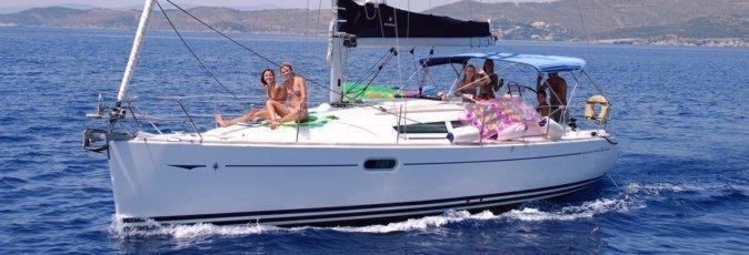 Jeanneau Sun Odyssey 36i sailing yacht available from Greek Sails for flotilla & bareboat charter from Poros, Greece. Image courtesey & with permission of Chantiers Jeanneau S.A.