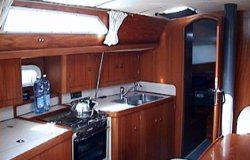 The Jeanneau Sun Odyssey 37.1 galley. Image courtesey & with permission of Chantiers Jeanneau S.A.