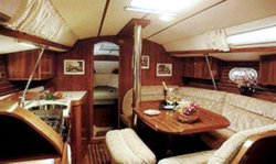 The Jeanneau Sun Odyssey 37.1 main cabin. Image courtesey & with permission of Chantiers Jeanneau S.A.