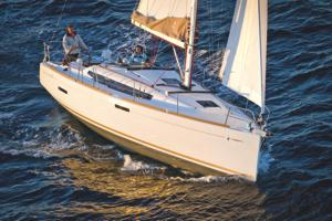 A Jeanneau Sun Odyssey 389 sailing yacht available from Greek Sails in Poros, Greece