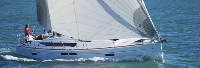 Jeanneau Sun Oddysey 469 sailing yacht available from Greek Sails for flotilla & bareboat charter from Poros, Greece. Image courtesey & with permission of Chantiers Jeanneau S.A.