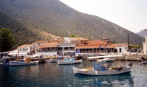 The pretty harbour at Leonidhion Plaka, one of the stops on a Greek Sails Argolic Gulf flotilla sailing holiday