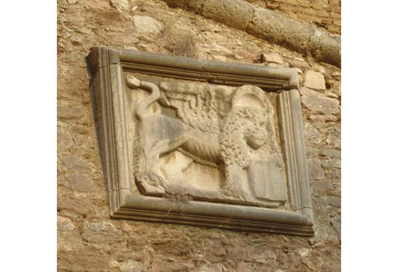 Sailing holiday locations in Greece: The winged lion is the symbol of Venice and the Venetians and is to be found particularly on parts of city walls and fortress