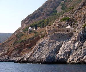 The monestery and chapel of Agia Irini (St. Irene), Cape Maleas, Peloponnese, Greece