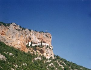 The Mount Elonis convent near Leonidhion, Peloponnese, Greece