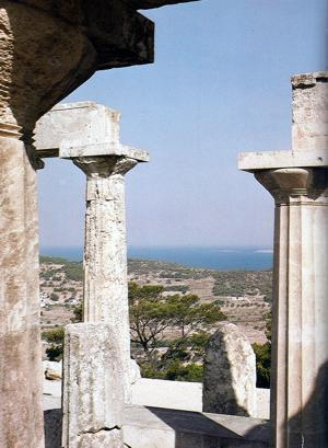 The temple of Aphaia on Aegina, one of the better preserved Doric temples in Greece
