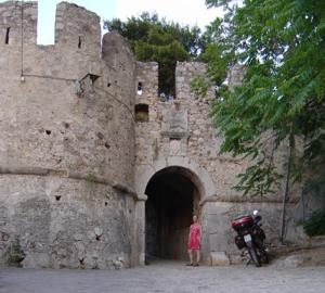 An old town gate, Navplion, Peloponnese, Greece