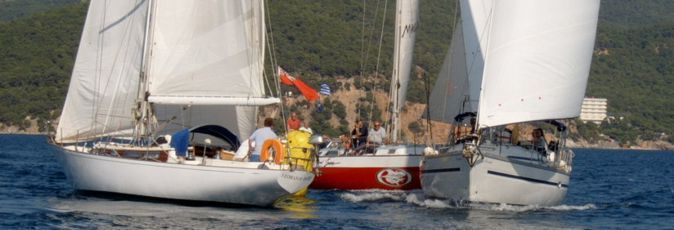 Yachts competing in the 2008 Round-the-Island race, Poros, Greece